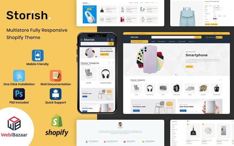 Storish - многоцелевая адаптивная тема Shopify