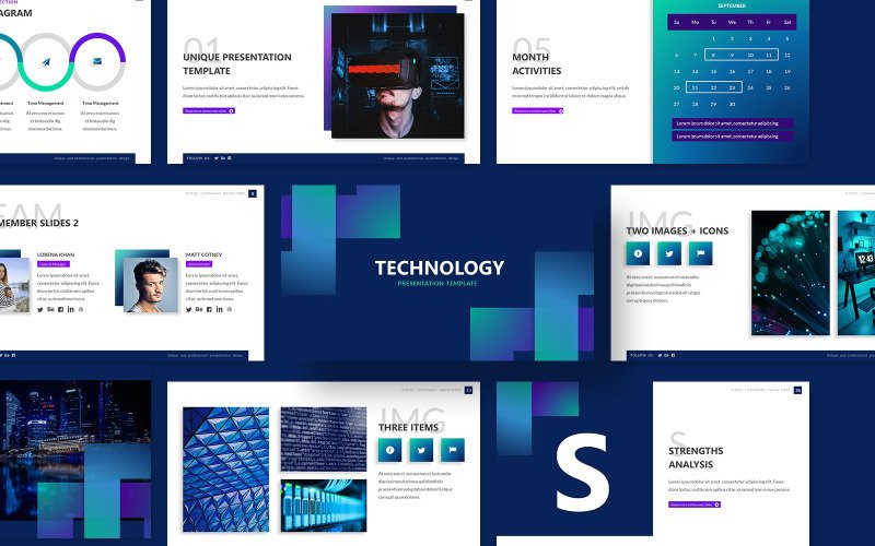 Technology Powerpoint Presentation Template PowerPoint template