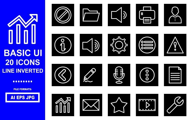 20 базовых перевернутых иконок UI Line