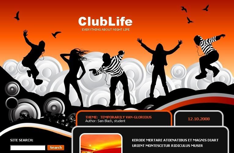 Night Club WordPress Theme