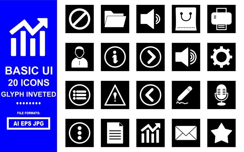 20 базовых символов пользовательского интерфейса с вложенными значками