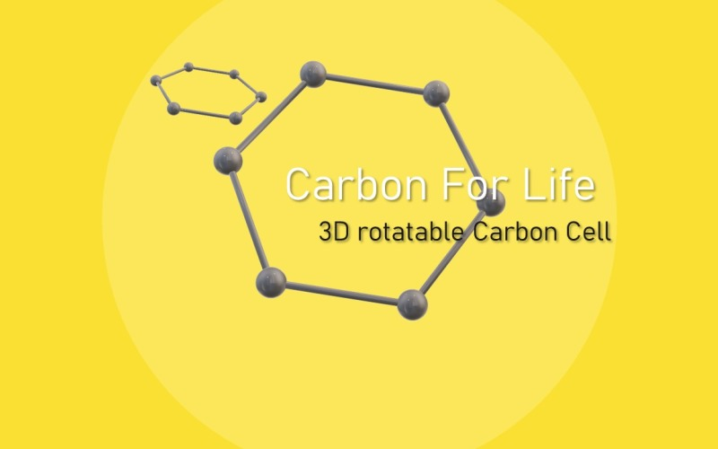 3D Carbon PowerPoint Presentation Template