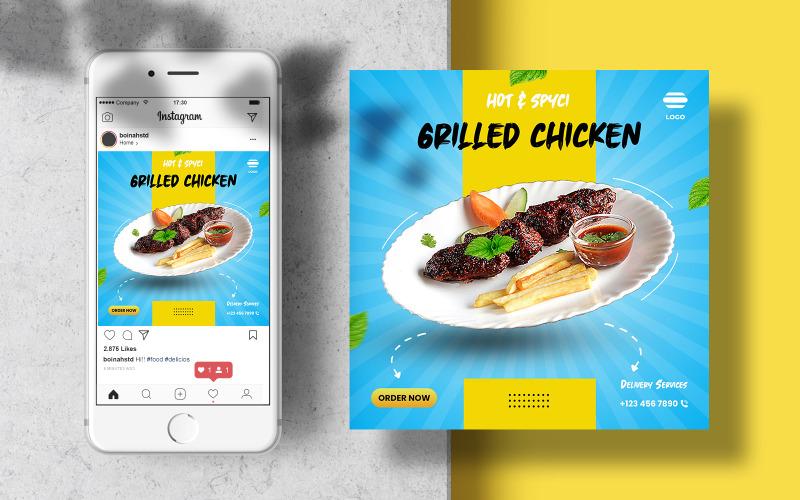 Шаблон баннера Instagram Food для социальных сетей