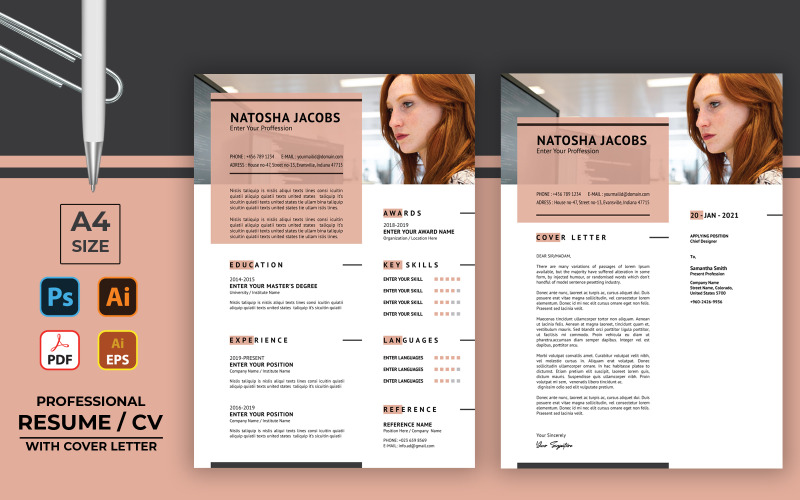 Professional Resume Format CV Template