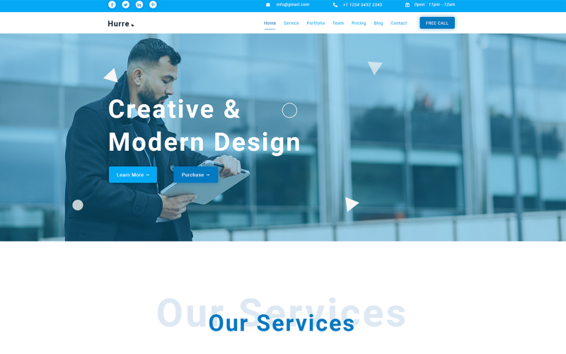 Hurre-Creative Consulting & Business PSD-Vorlage