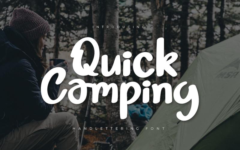 Schnelle Camping-Schriftart
