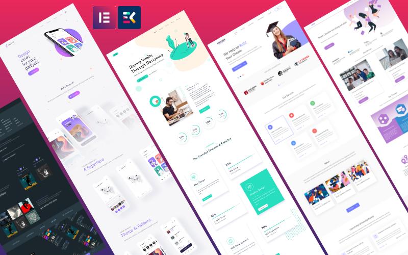 Kit Elementor multipropósito de una página