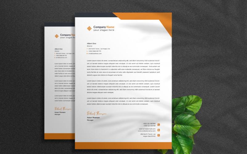 Kostenloser Geschäftsbriefkopf - Vorlage für Unternehmensidentität