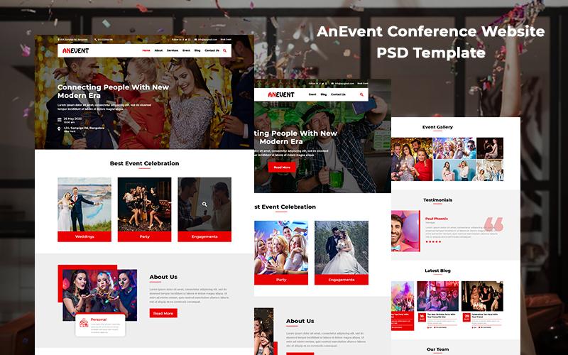 Anevent - šablona konference PSD pro správu událostí