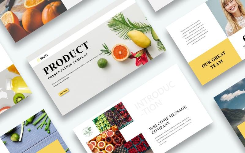 Kostenlose Produktpräsentation PowerPoint-Vorlage