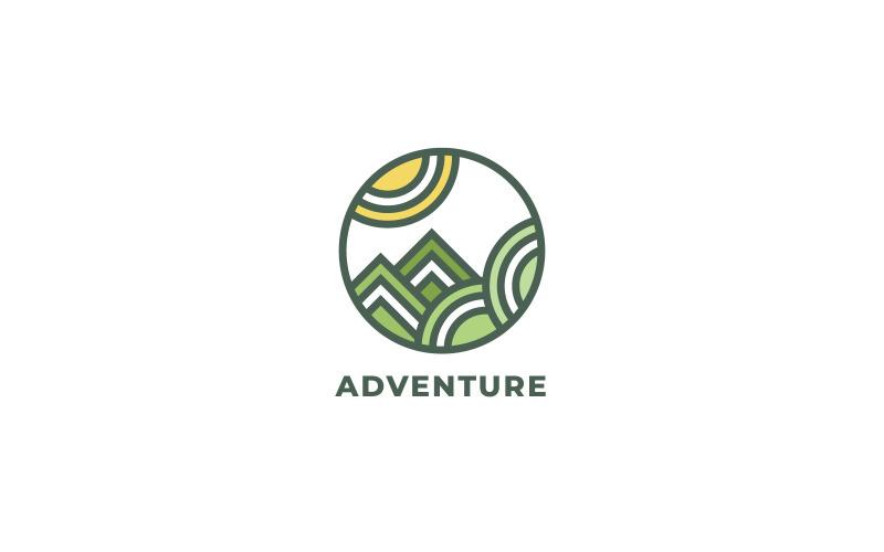 Adventure Mountains Logo Vorlage
