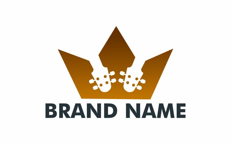 Gitarren Krone Logo Vorlage