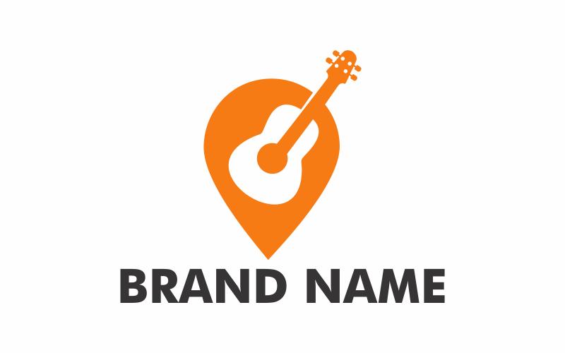 Gitarrenpunkt Logo Vorlage