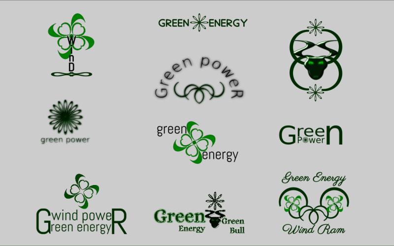 Green Energy Bundle mit 10 Logo-Vorlagen