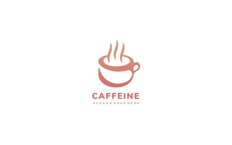 Hot Coffee Cup Logo Vorlage