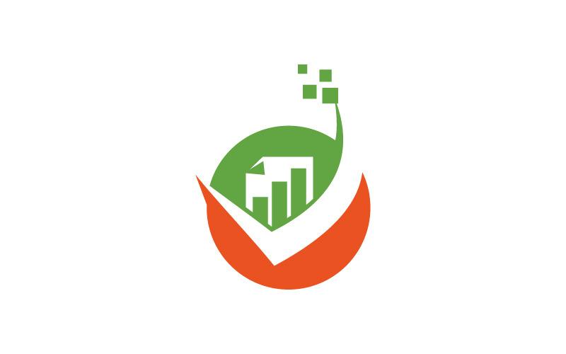Logo-Vorlage für globale Unternehmenssteuerlösung