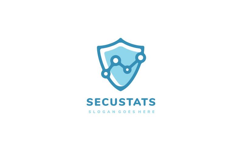 Logo-Vorlage für Security Shield Statistics