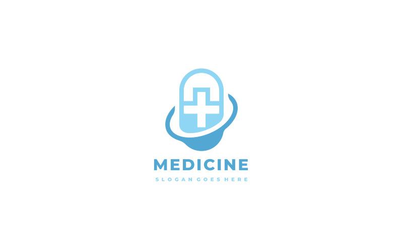 Medizinische Pillen Logo Vorlage