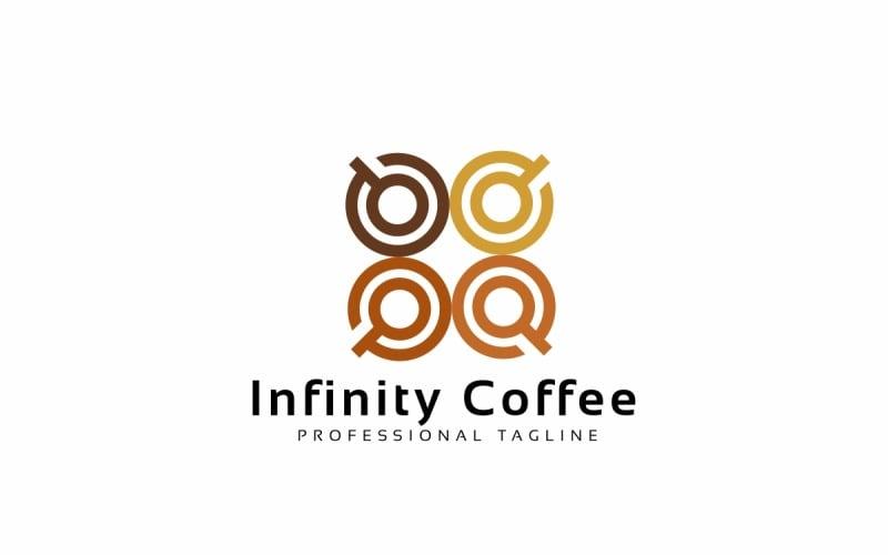 Unendlichkeits-Kaffee-Logo-Schablone