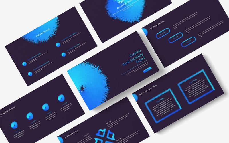 PowerPoint-Vorlage für den Bericht zur kreativen Arbeitszusammenfassung