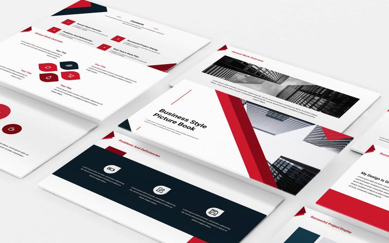 PowerPoint-Vorlage für ein Geschäftsalbum-Bildalbum