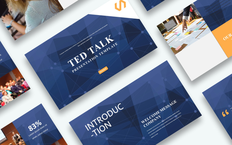 Kostenlose Ted Talk Präsentation Kenote Vorlage