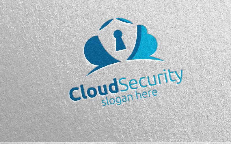 Cloud Security Logo Vorlage