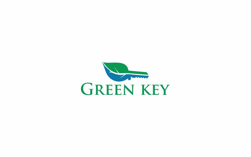 Green Key Logo Vorlage