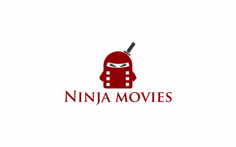 Ninja Filme Logo Vorlage