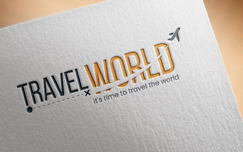 Travel World Logo Vorlage