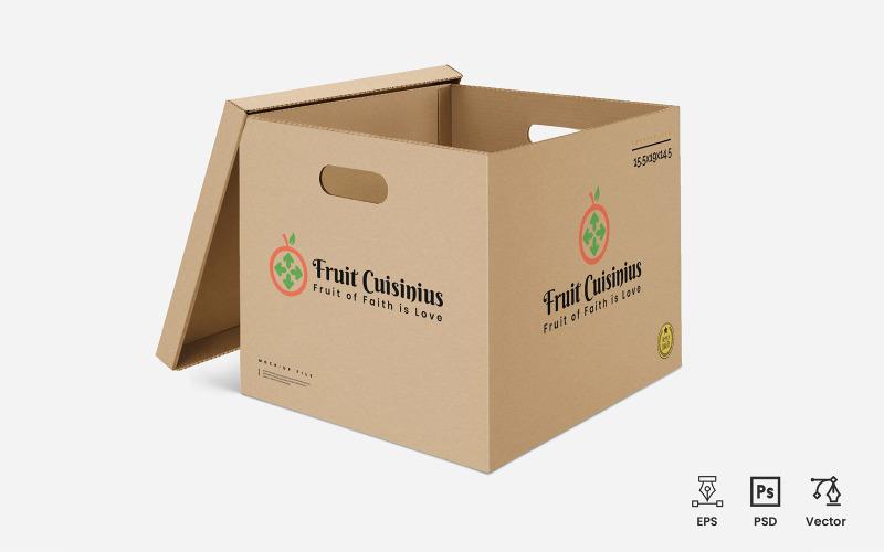 Frucht Cuisinius Logo Vorlage