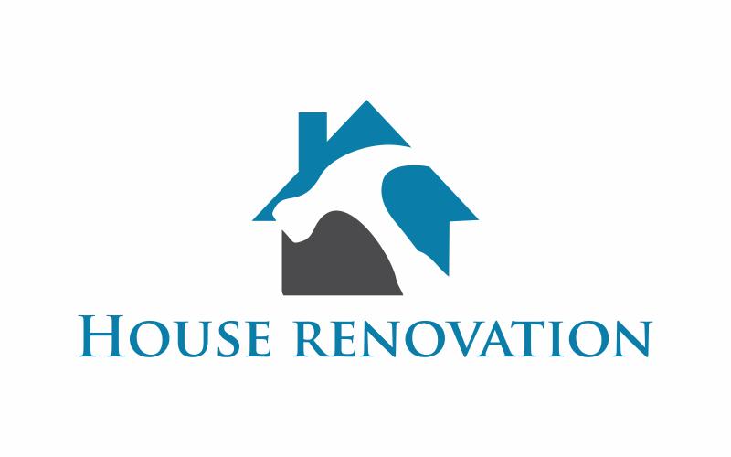 Hausrenovierung Logo Vorlage