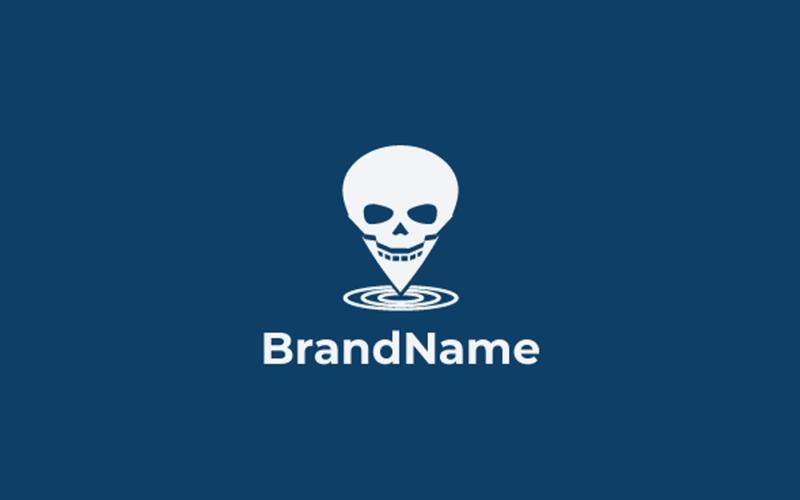 Pin Skull Logo Vorlage