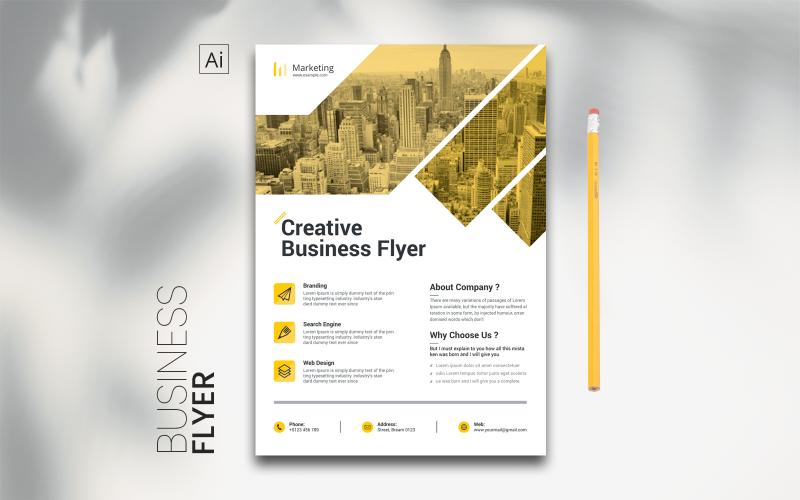 Digital Flyer - mall för företagsidentitet