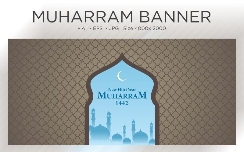 Muharram Banner Islamischer Bogen und Muster Neujahr - Illustration