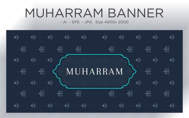 Muslimisches islamisches Neujahrsfest-Banner-Musterdesign - Illustration
