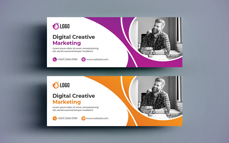 Creative Marketing Cover and Web Banner Social Media