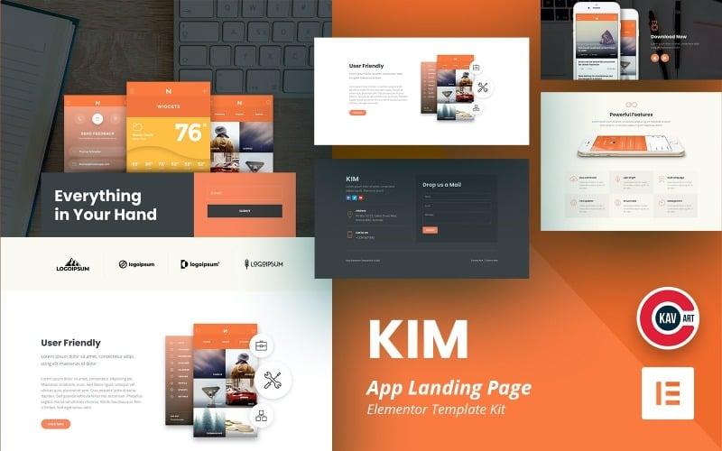 Kim - App Landing Page Elementor Kit Template