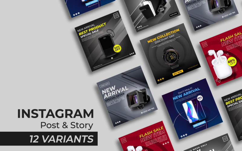 GADGET SERIES IV - Instagram Post and Story Social Media Template