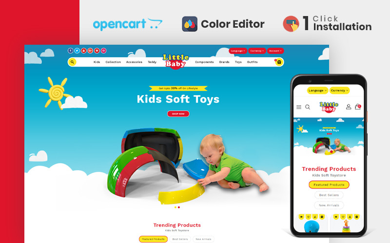 Little Baby Kids & Toys Store OpencartTheme