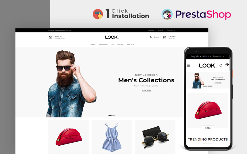 Look Fashion Store PrestaShop Theme
