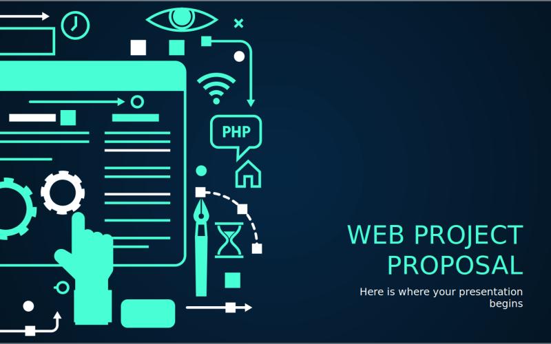 Шаблон PowerPoint для веб-проекта