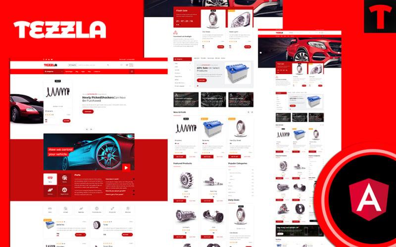 Tezzla | Automobile & Car accessories Shop Angular Website Template