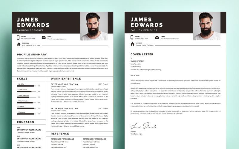 James Edwards - Fashion Designer Resume