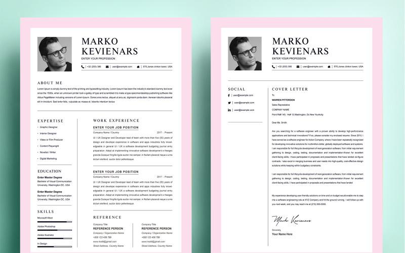 Marko Kevienars - Printable Resume Template CV Resume