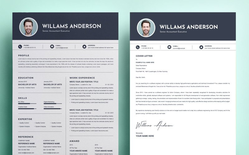 Williams Anderson - Resume Template Design
