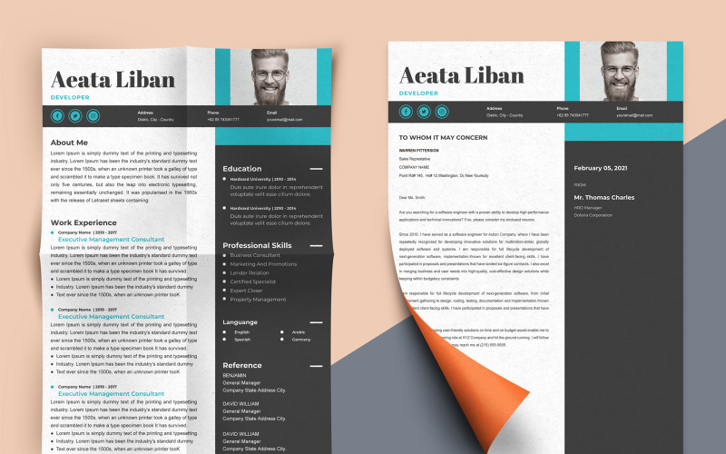 Aeata Liban - Web Developer Resume