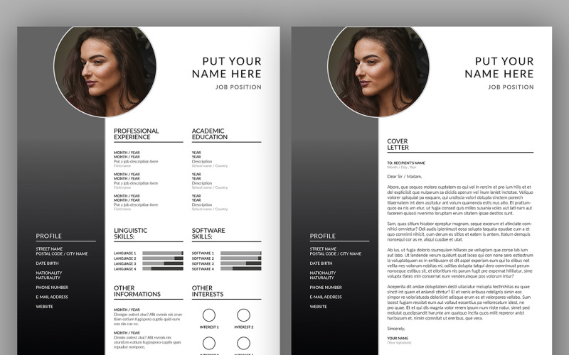CV Resume + Cover Letter
