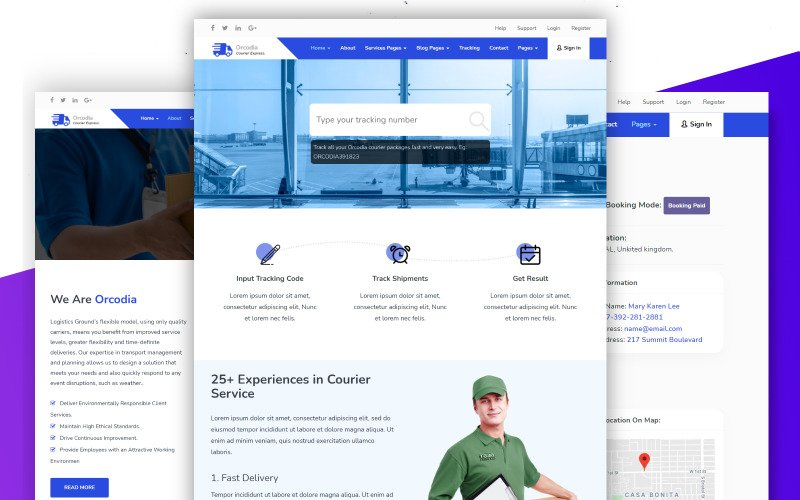Orcodia - Courier & Delivery Service Mordern HTML Template