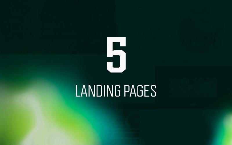 5 pages de destination polyvalentes, modèles PSD d'en-têtes de héros